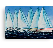 Regatta Blue Canvas Print