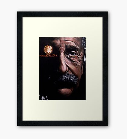 Tears of a Genius Framed Print