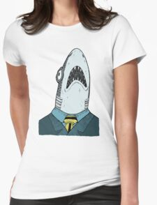 The Clothes Make the Shark Womens Fitted T-Shirt