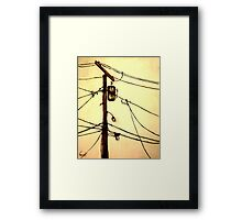"""You Pay for the View - """"Wired"""" Series Framed Print"""