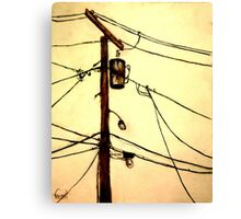 "You Pay for the View - ""Wired"" Series Canvas Print"