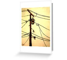 "You Pay for the View - ""Wired"" Series Greeting Card"
