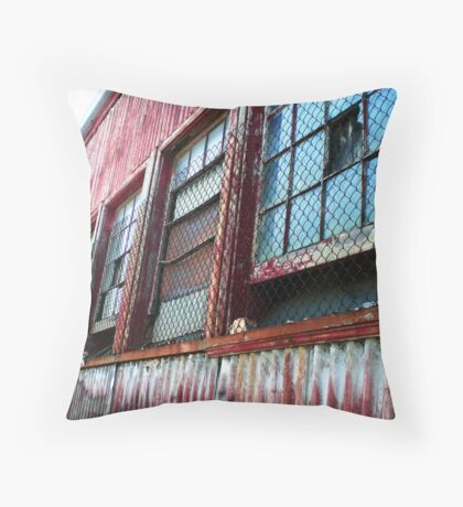 Corrugated fence Throw Pillow