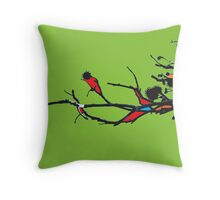 twigs mixed colours Throw Pillow