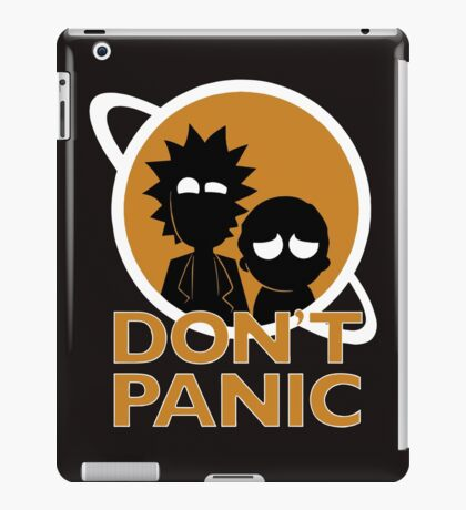 rickmorty dark iPad Case/Skin