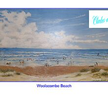 Woolacombe Beach by clarkesart