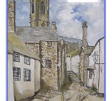 Church Steps Minehead by clarkesart
