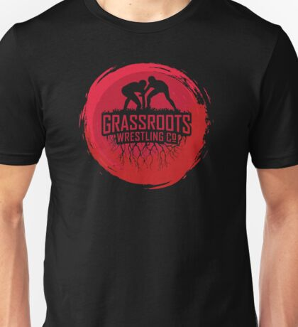 GrassRoots Wrestling Co. Art Logo Unisex T-Shirt