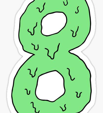 eight pantone green Sticker