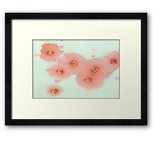 Red Posies 2 Framed Print