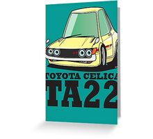 Toyota Celica TA22 Greeting Card