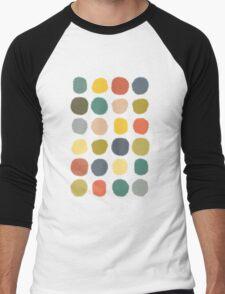 baby ikat spots cream Men's Baseball ¾ T-Shirt