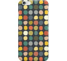 baby ikat spots charcoal iPhone Case/Skin