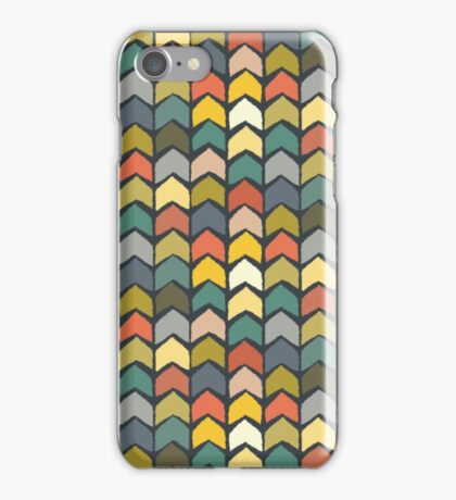 baby ikat arrows charcoal iPhone Case/Skin