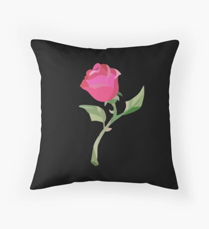 Stain Glass Rose - Beauty & the Beast Throw Pillow