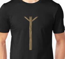 Glitch Abbasid Land wood cover middleplus Unisex T-Shirt