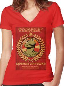 Kremlin The Frog Women's Fitted V-Neck T-Shirt