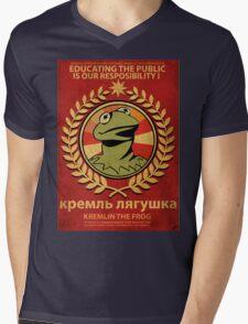 Kremlin The Frog Mens V-Neck T-Shirt