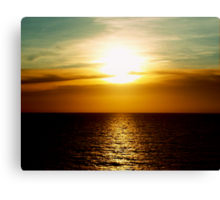Sunset in Miami Canvas Print