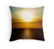 Sunset in Miami Throw Pillow