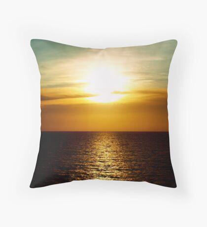 Sunset in Miami Throw Pillow