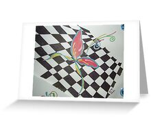 Checkered Butterfly Greeting Card