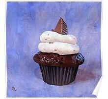 Orgasmic cupcake painting Poster