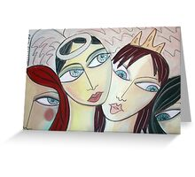 Queens and Angels Greeting Card