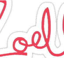 Zoella Logo - Pink Sticker