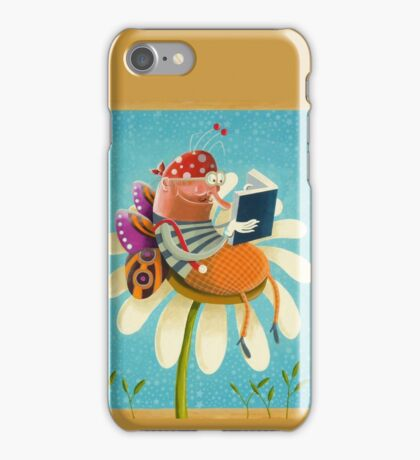 Butterfly bookworm iPhone Case/Skin