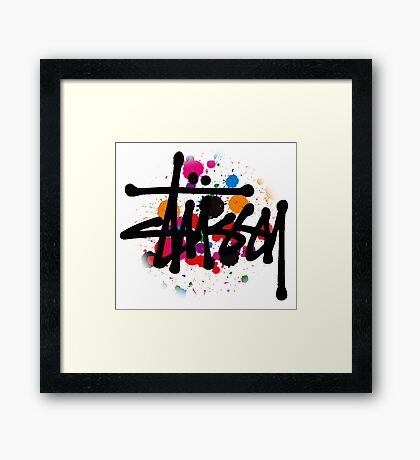 STUSSY DESIGNS BRUSH COLORS Framed Print