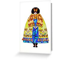 The Butterfly Lady Greeting Card