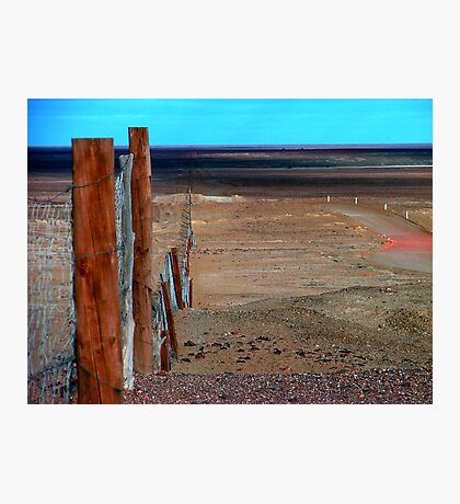 The Longest Fence in the World Photographic Print