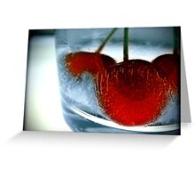 Ice Cherry Greeting Card