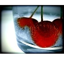 Ice Cherry Photographic Print