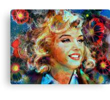 Marilyn FlowerPower Canvas Print