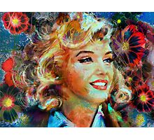 Marilyn FlowerPower Photographic Print