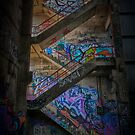 Grafitti Stairway by Ian Creek