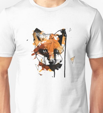 Geometric Watercolor Fox Unisex T-Shirt
