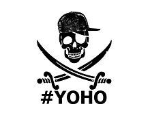#YOHO Black YOLO Pirate Flag  Photographic Print