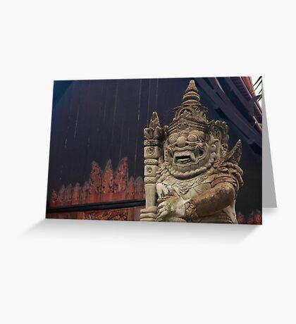 Black Temple, Thailand Greeting Card