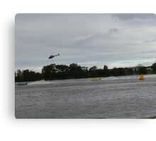 Super boats racing on the Manning River Taree. Canvas Print