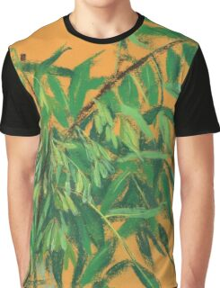 """Ash-tree"", green & yellow, floral art Graphic T-Shirt"