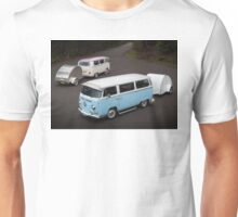 Twin Kombis with Teardrop Caravans Unisex T-Shirt