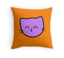 Kawaii Kitty Cats 2048 - tile 64 Throw Pillow