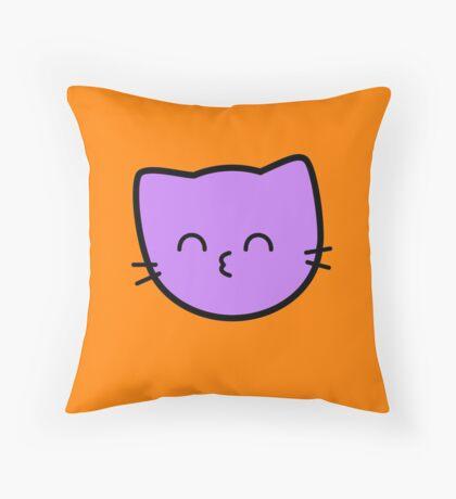 Kawaii Kitty Cats 2048 - tile 64 Throw Pillow