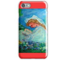Little Girl Reading in the Garden Decor & Gifts  iPhone Case/Skin