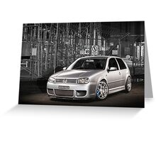 Jose's Volkswagen MkIV R32 Golf Greeting Card