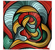 Abstract Art Curves Poster