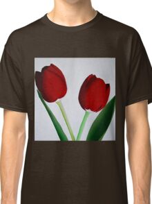 TWO RED TULIPS Classic T-Shirt